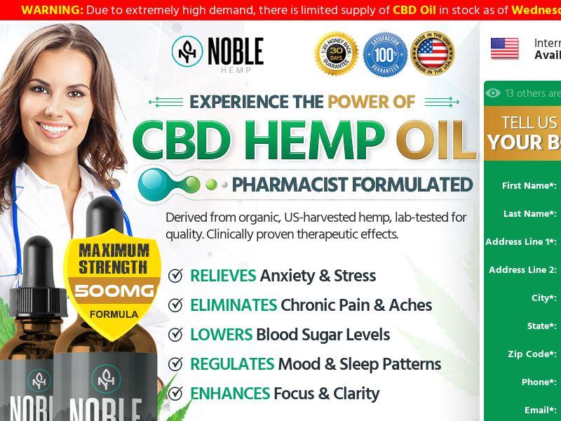 Noble Hemp CBD Oil (CPS) - US