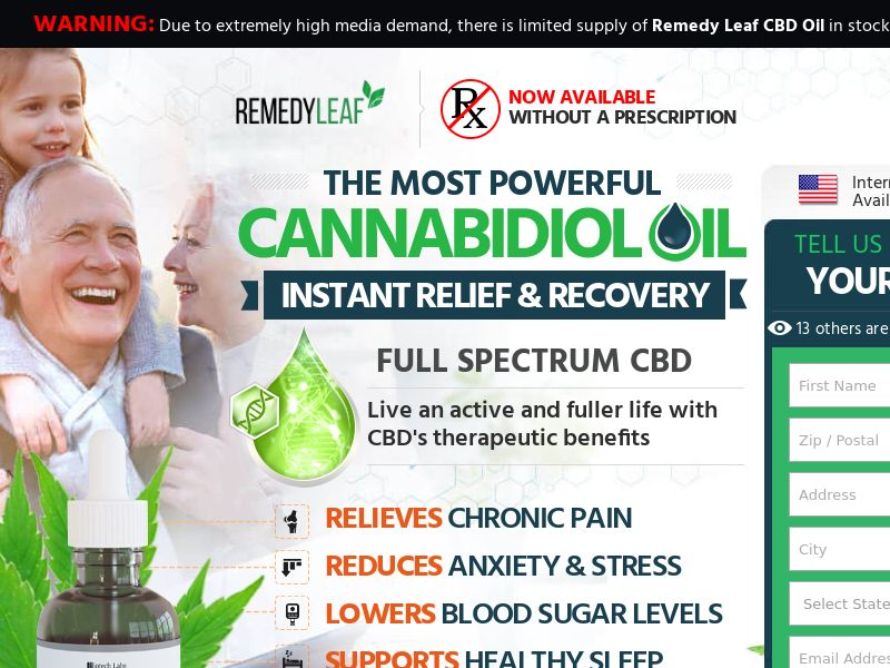 Remedy Leaf - Trial - US - CBD