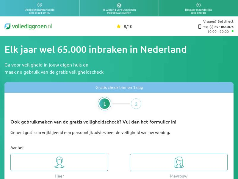 FullGreen - Home Security [NL] (Email,Banner,Social,Native,PPC,SEO) - CPL