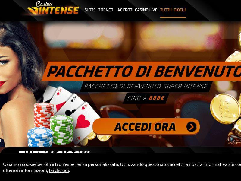 Casino Intense - IT (IT), [CPA], Gambling, Casino, Deposit Payment, million, lotto