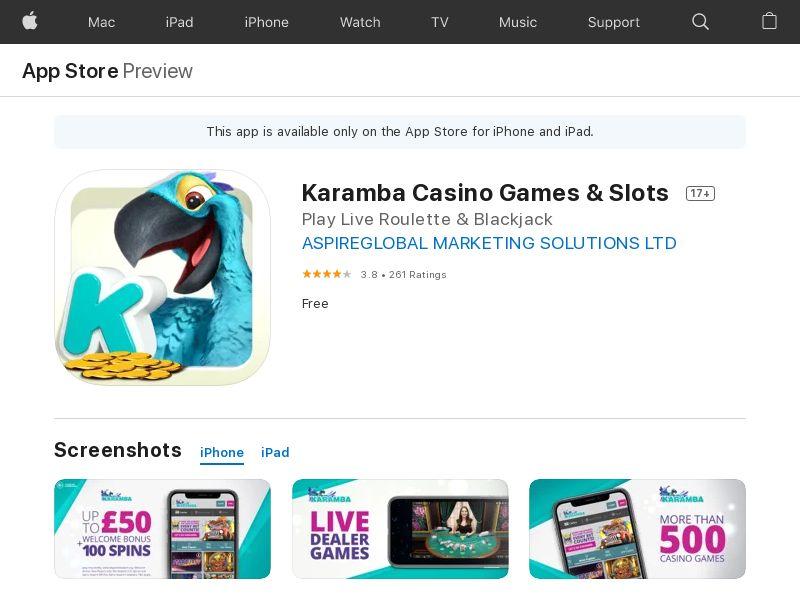 KarambaCasino_UK_iOS (manual) (FTD=min 10EUR)