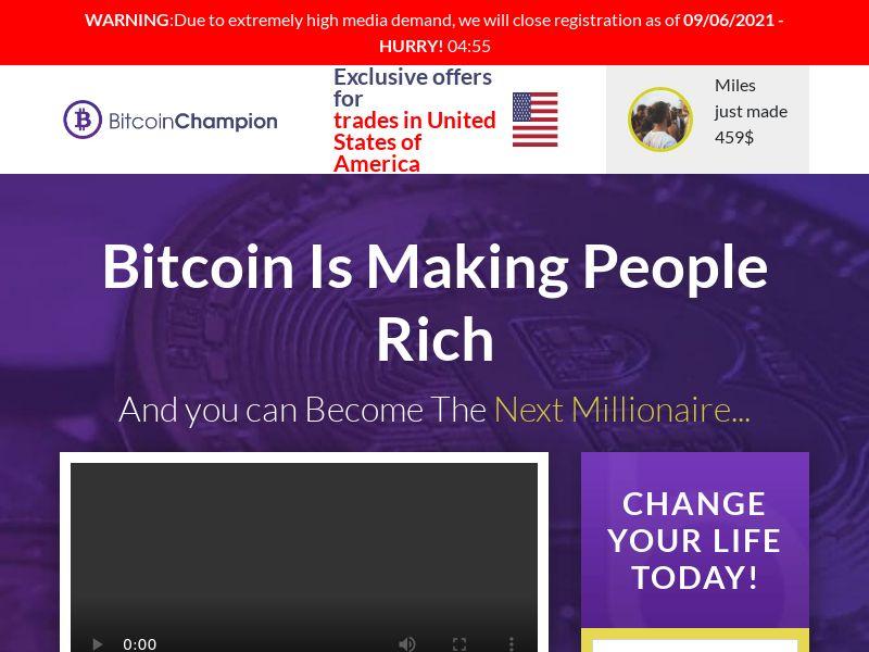 (13931) [WEB+WAP] Bitcoin Champion - MultiGEO - CPA