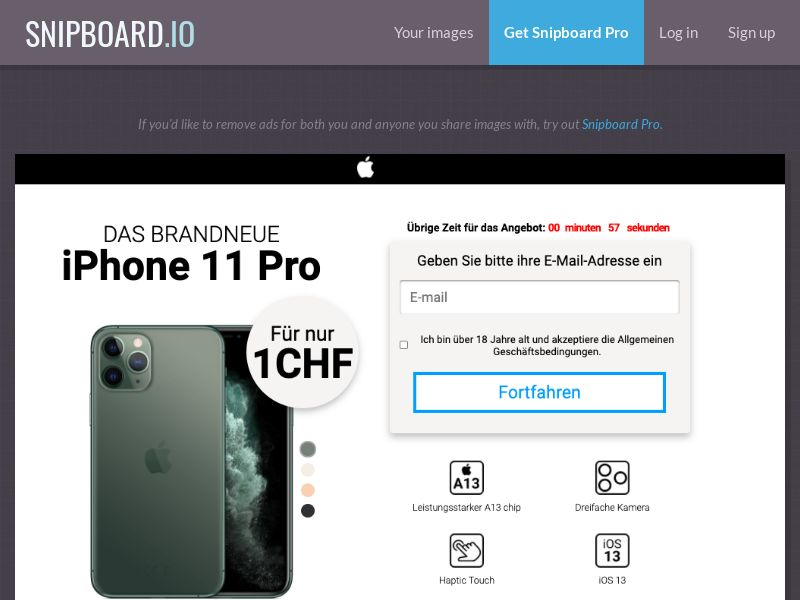 37649 - CH - CreditSupport - iPhone 11 Pro (german) - CC submit