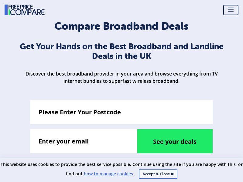 UK - Free Price Compare Broadband