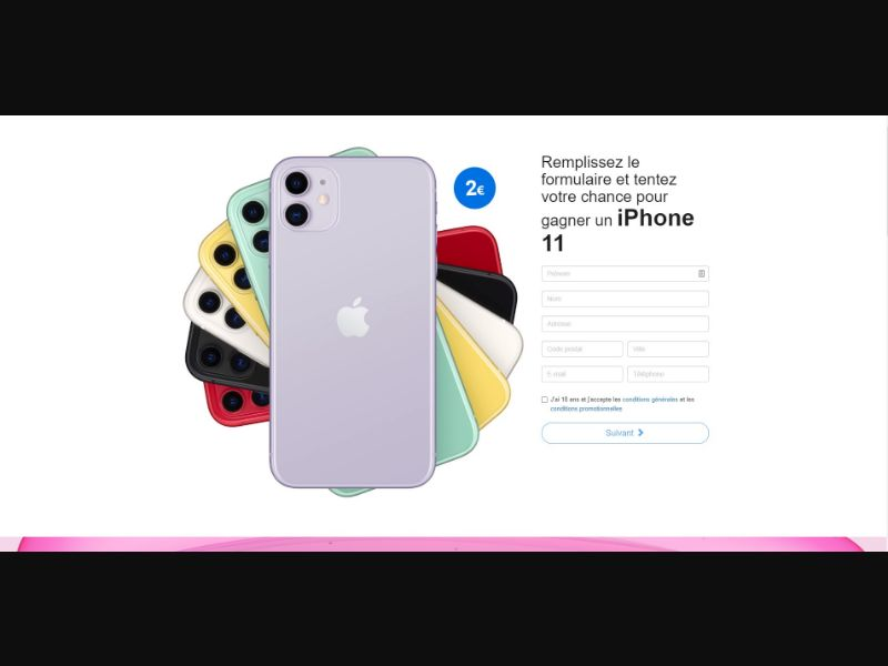 iPhone 11 - Sweepstakes & Surveys - Trial - [FR]
