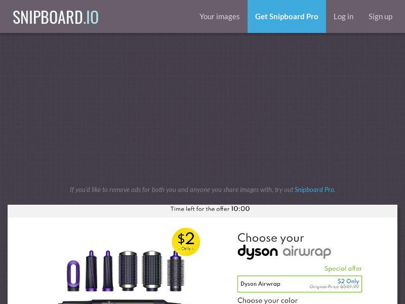 42436 - US - SmartTest - Choose Your Dyson Airwrap - CC submit