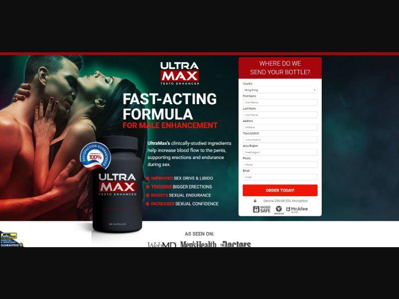 Ultra Max Testo Enhancer - Male Enhancement - SS - [HK]
