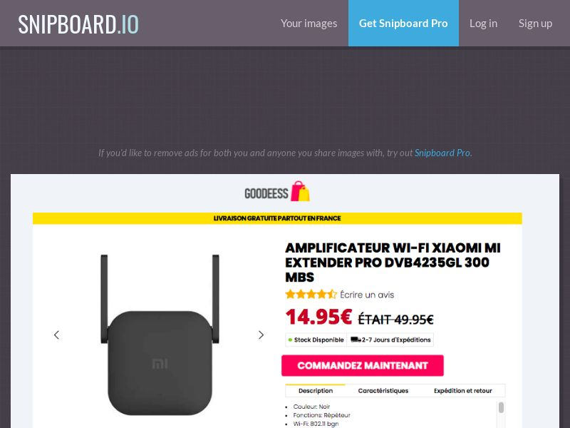 E-Commerce - GOODEESS Wifi Amplifier FR - CC Submit