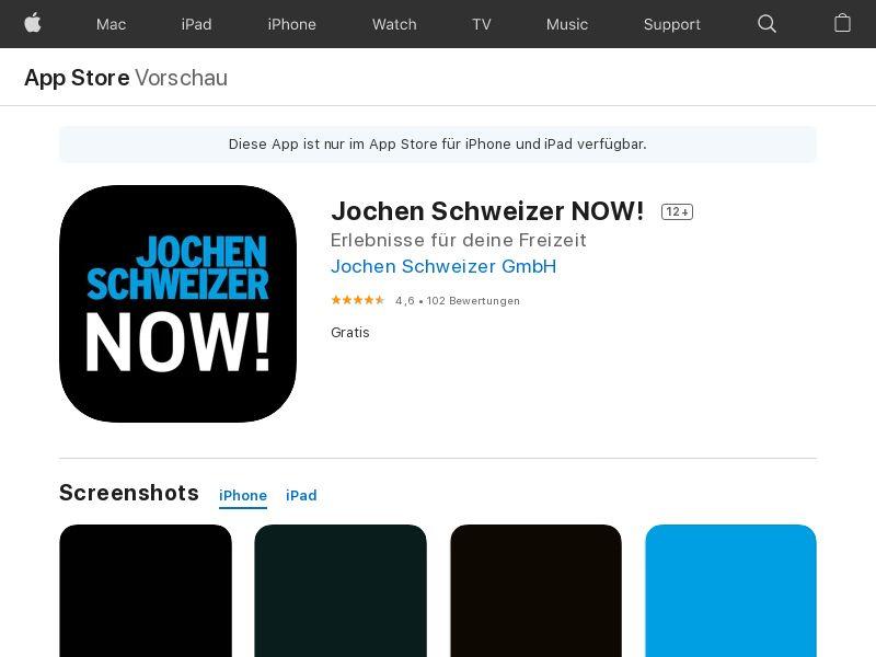 Jochen Schweizer NOW! IOS DE (IDFA)*Affilitest blocked*