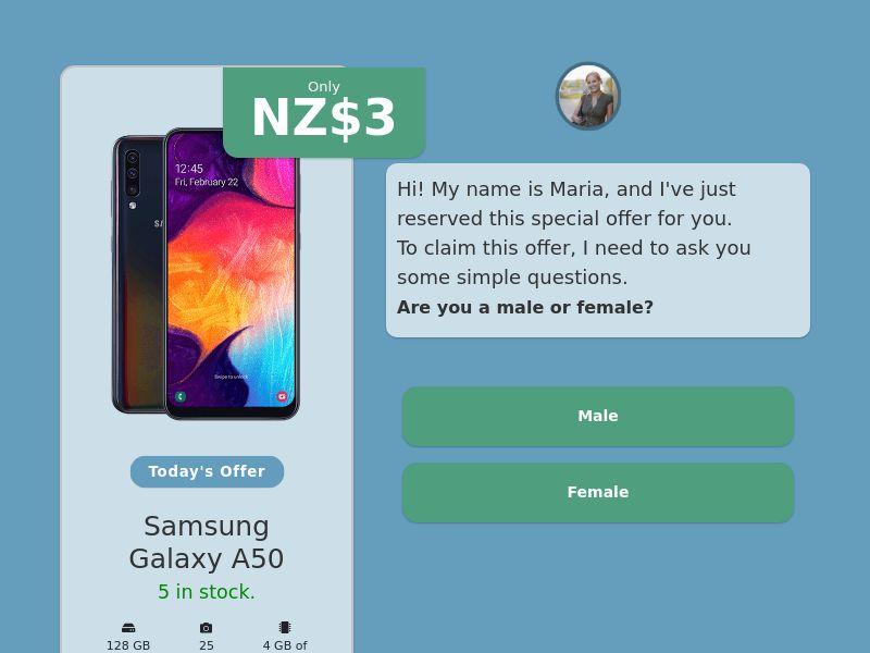 Step-by-step FUNNEL: Samsung Galaxy A50 - NZ