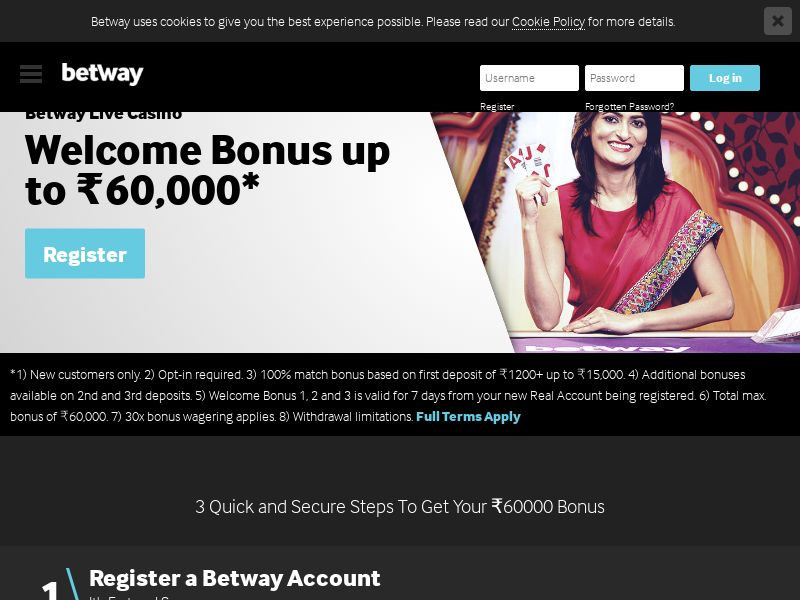 Betway.com RevenueShare CPA - India
