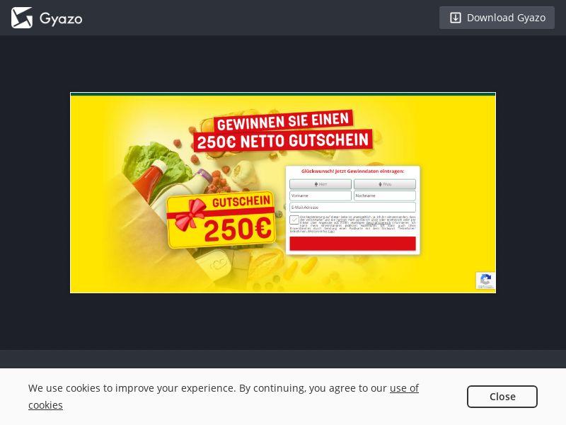 Win Netto Market 250€ Voucher (DE) (CPL) (Personal Approval)