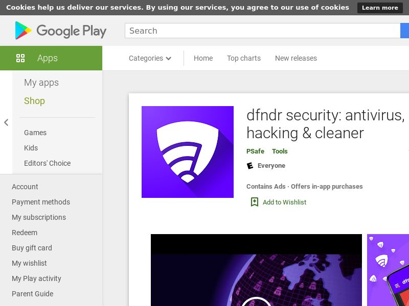 DFNDR Security Android US GAID