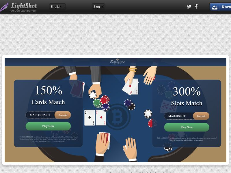 Exclusive Casino (UK, US, CA, AU, NZ, FR) (CPS) (Personal Approval)