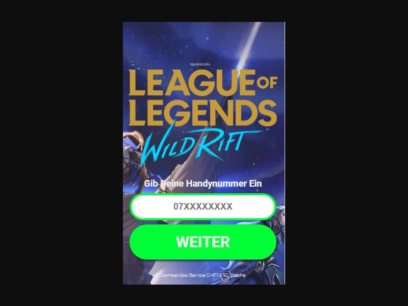 CH - Games: League of Angels/Fortnite [CH] - Click to sms