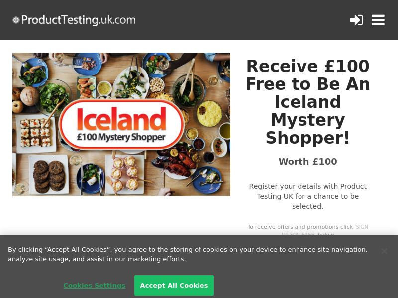 Email Submit - £100 Iceland Mystery Shopper - SOI (UK)
