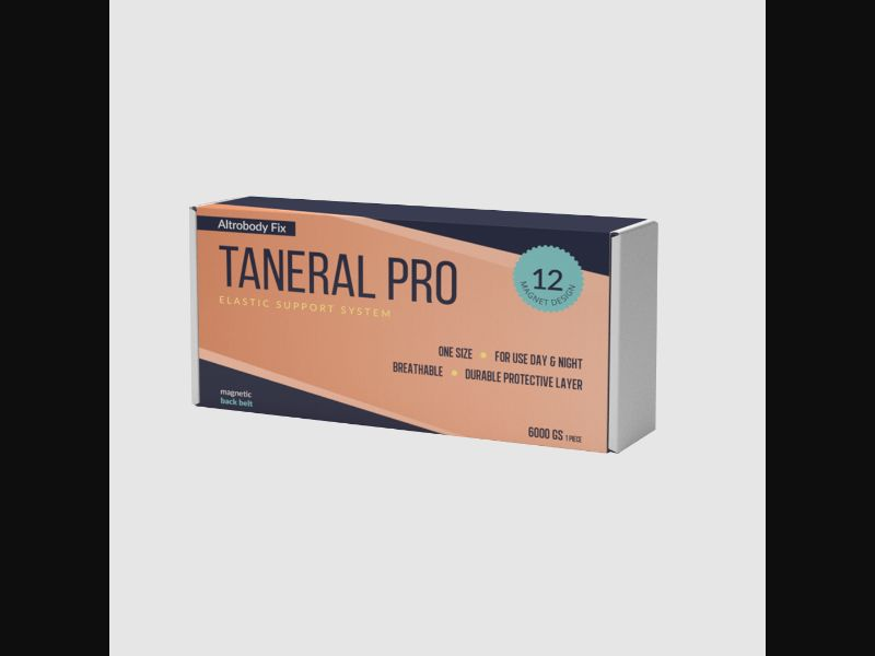 TANERAL PRO – DE – CPA – back pain – back brace - COD / SS - new creative available