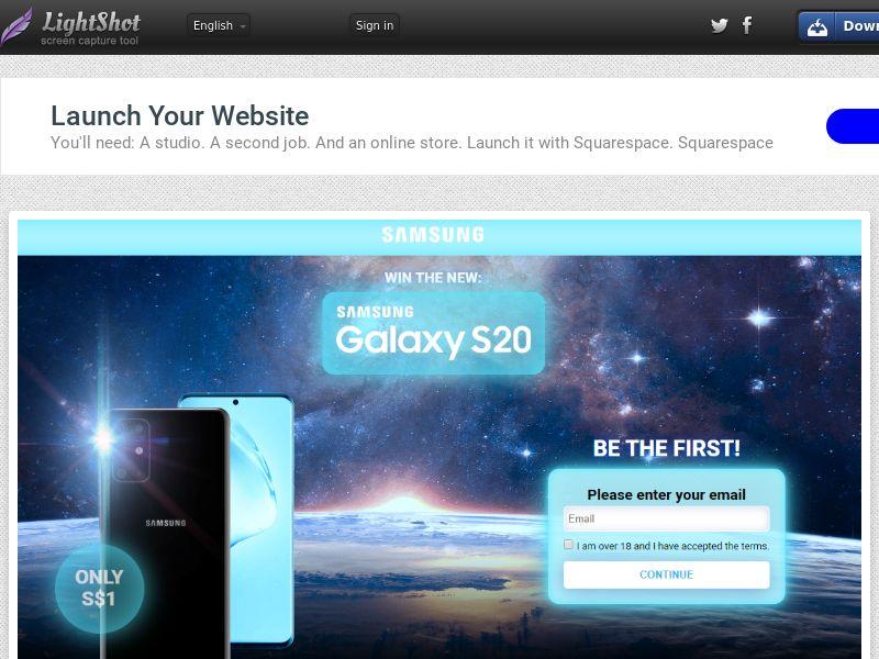 GetRealDeal Samsung Galaxy S20 Dark (Sweepstake) (CC Trial) - Singapore