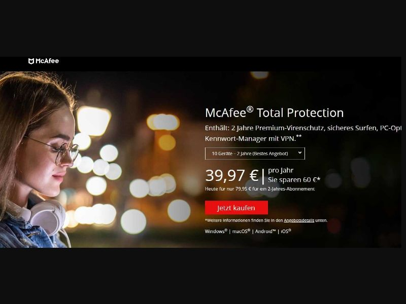 McAfee Total Protection (DE) (CPS) (Personal Approval)