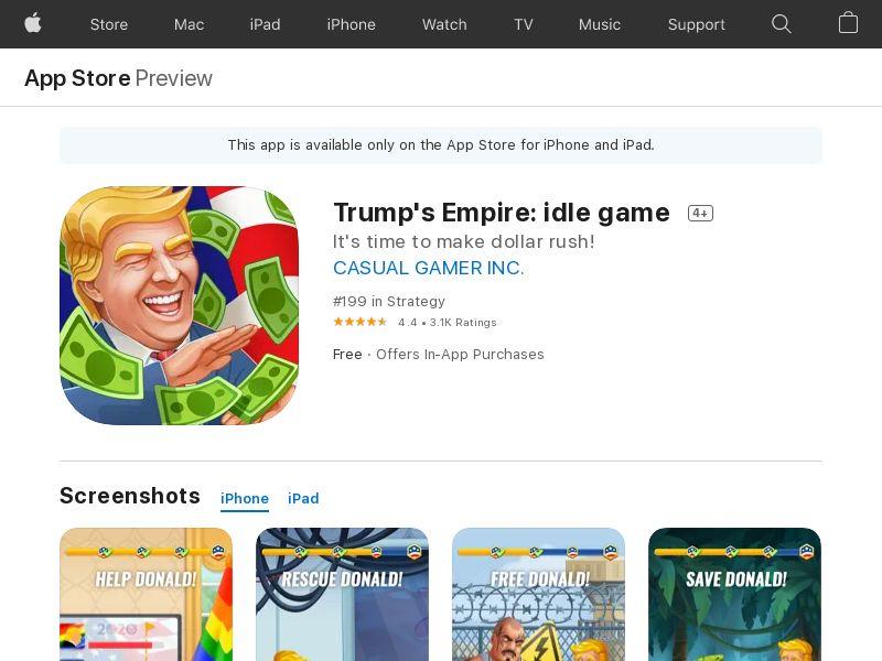 Donald's Empire: iOS CPE - CA