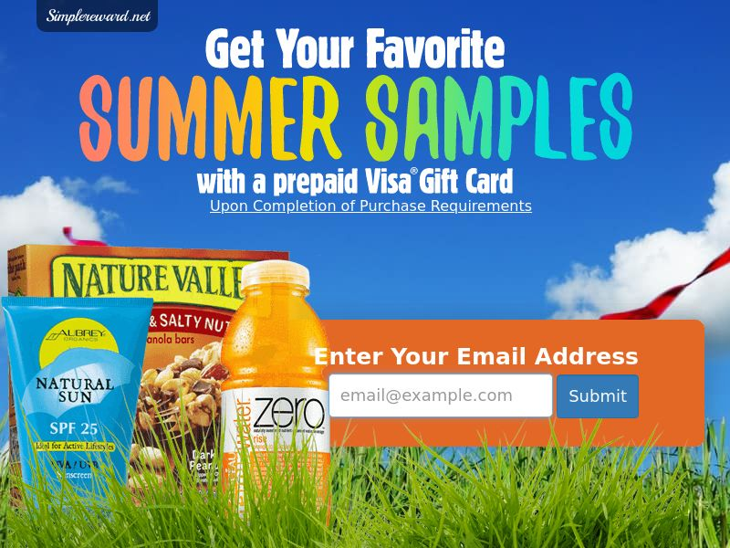 Summer Samples - Email Submit - Incent