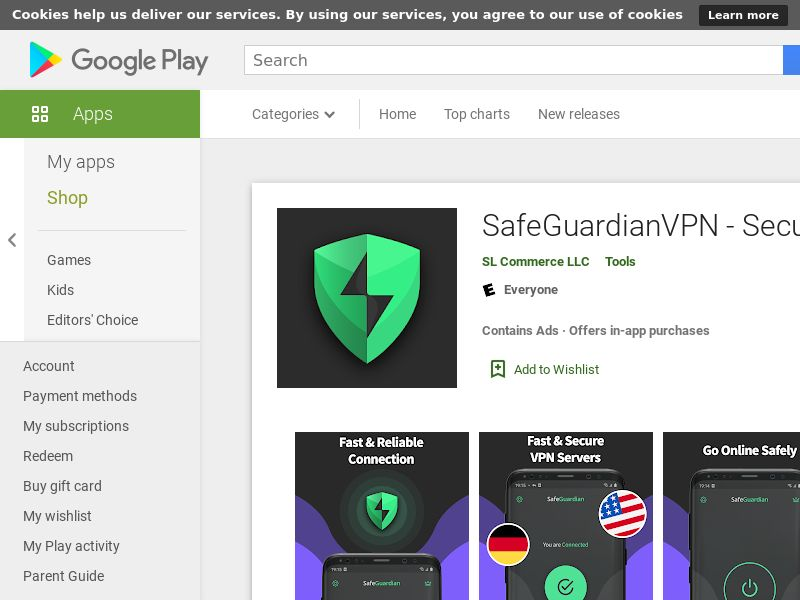 2880 SafeGuardian VPN Utilities Android US