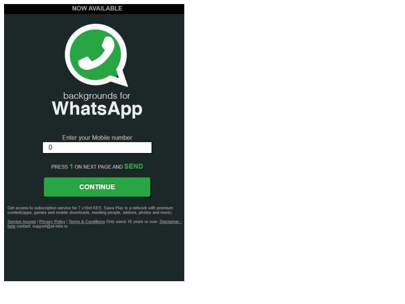 Whatsapp Black Safaricom