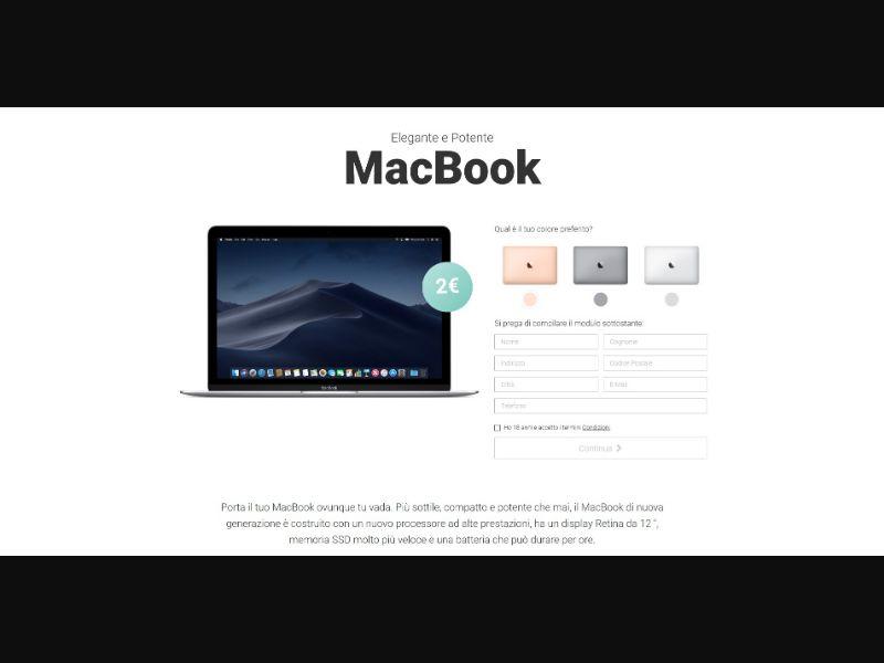 MacBook - Sweepstakes & Surveys - Trial - [IT]