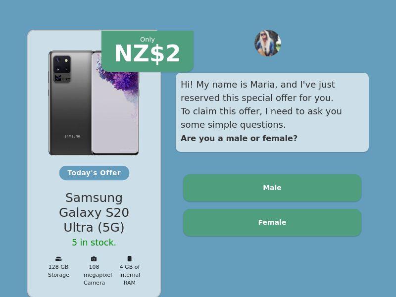 Step-by-step FUNNEL: Samsung Galaxy S20 Ultra - NZ