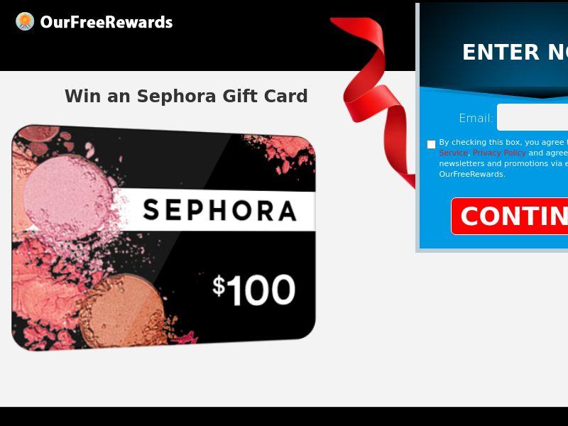 OurFreeRewards.com_Sephora Gift Card CPL US [SOI]