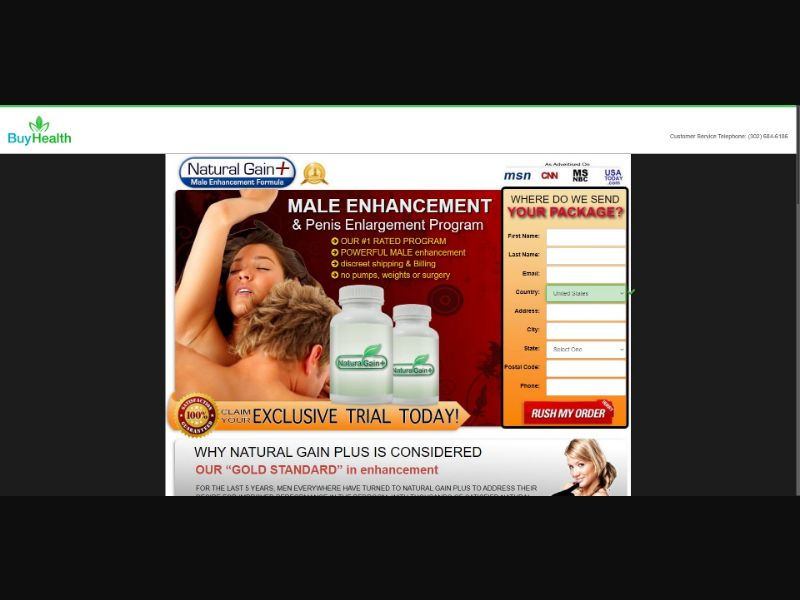 Natura Gain Plus - Male Enhancement - SS - [133 GEOs]