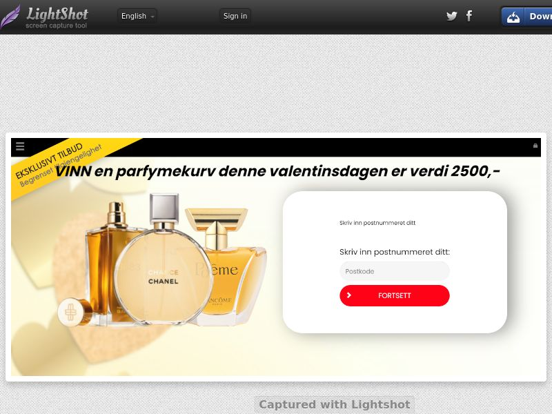 ConsumersConnect - Win Valentine's Day Parfume Basket (NO) (CPL) (Personal Approval)