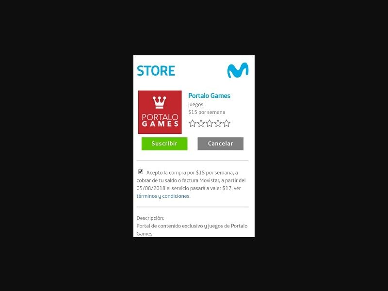 Store portal [AR] - 1 click