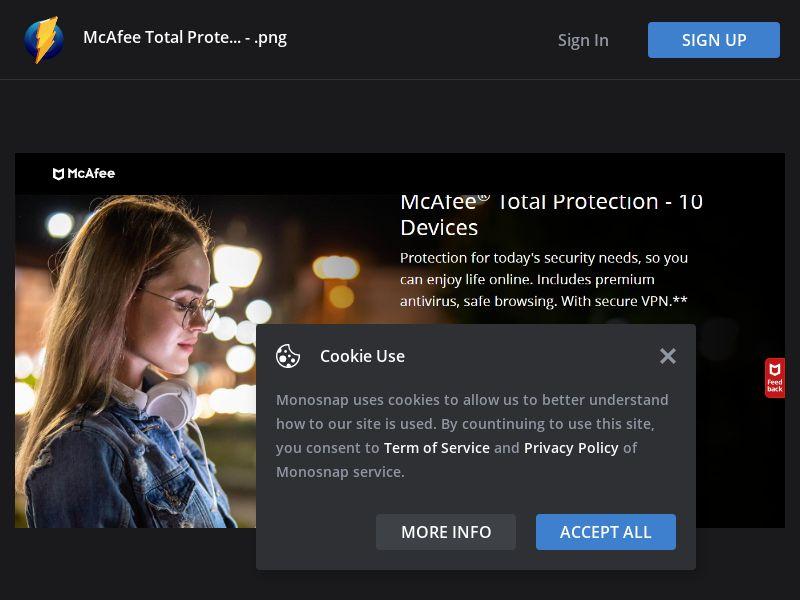 Australia (AU) - McAfee Total Protection 2021 (Responsive)