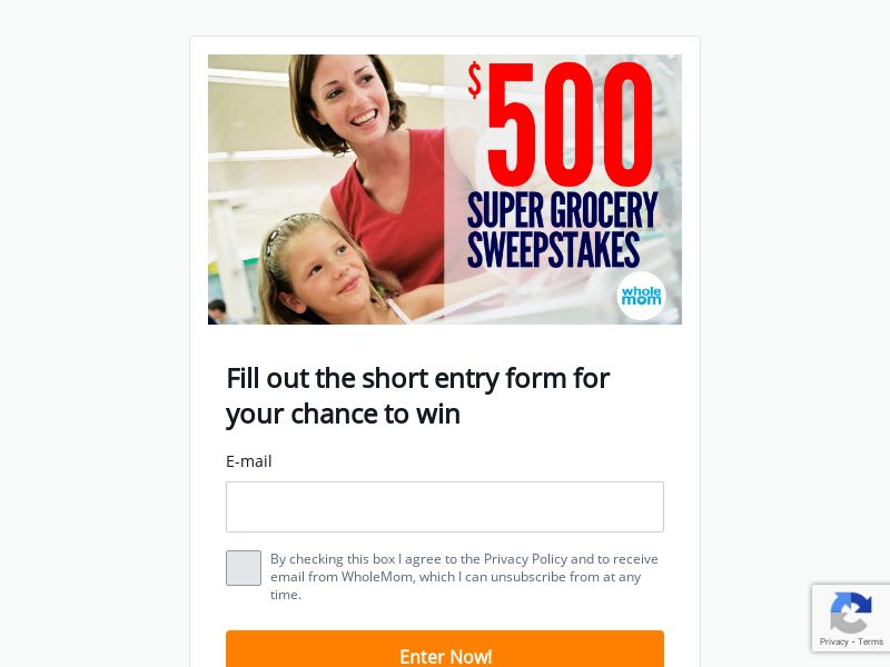 Super Grocery Sweepstakes - First Page - US
