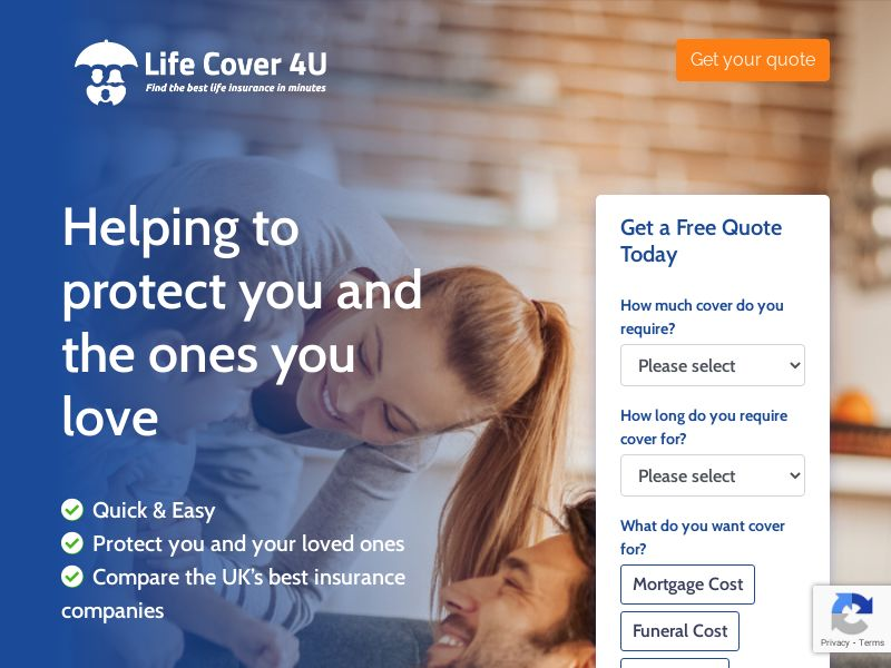 Life Cover 4U - Find the best Life Insurance in minutes [UK]