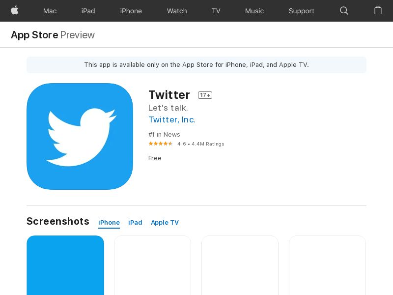 Twitter iOS Indonesia - App Id Required