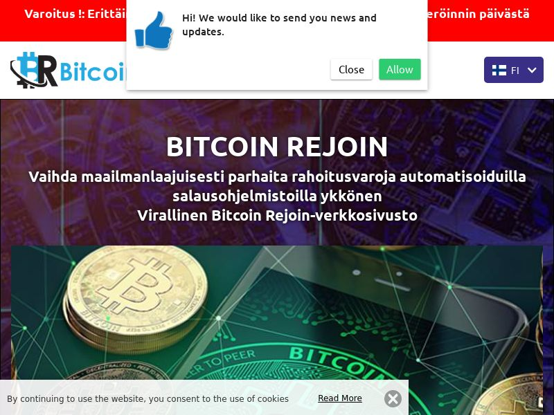 Bitcoin Rejoins Finnish 2797
