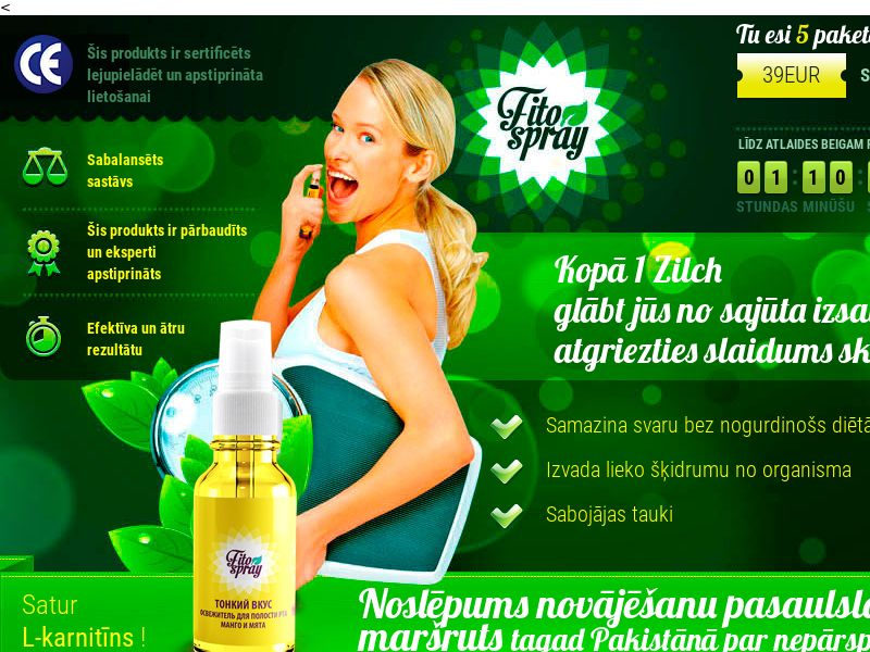 Fitospray LV - weight loss spray