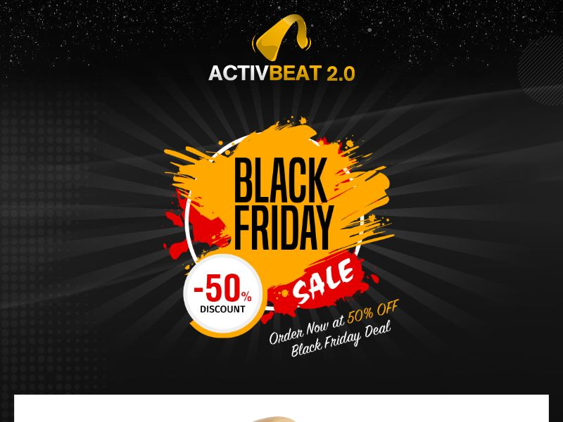 ActivBeat 2.0 - Headphones - Black Friday Lp Available - CPA - [INTERNATIONAL]