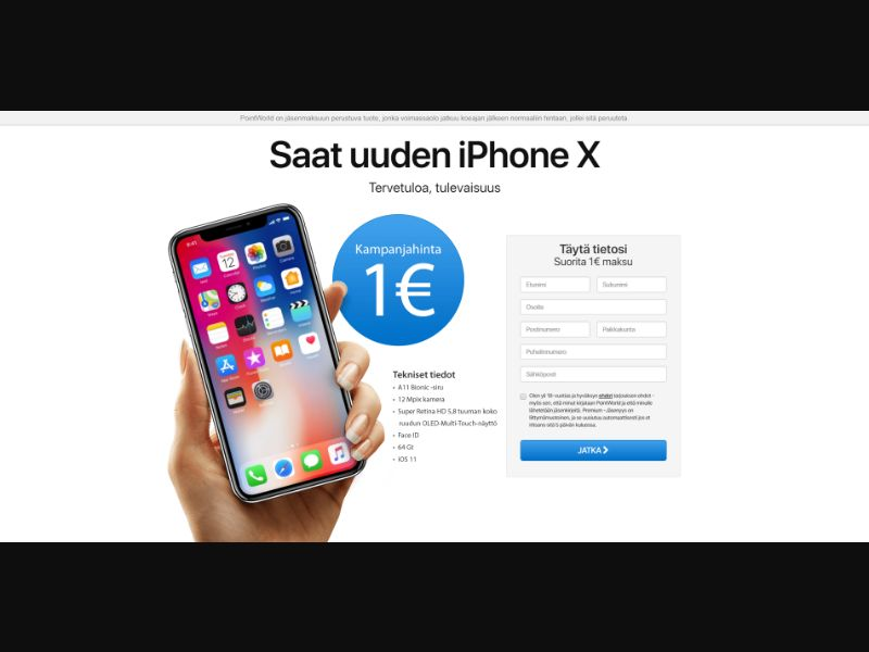 Finland (FI) - PointWorld - Get the iPhone X (Responsive)
