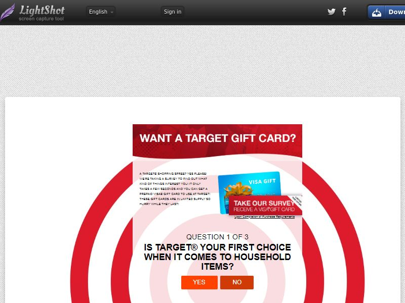 Target Gift Card (Sweepstake) (SOI) - United States