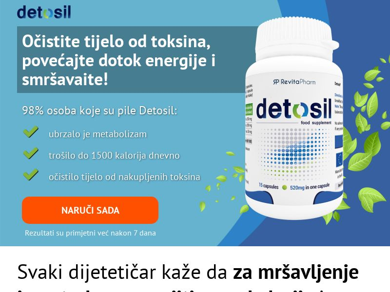 Detosil Slim - HR (HR), [COD], Health and Beauty, Supplements, Sell, Call center contact, coronavirus, corona, virus, keto, diet, weight, fitness, face mask