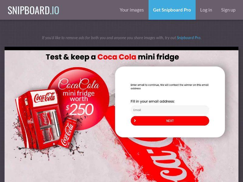 38482 - AU - YouSweeps - Coca Cola Fridge - SOI