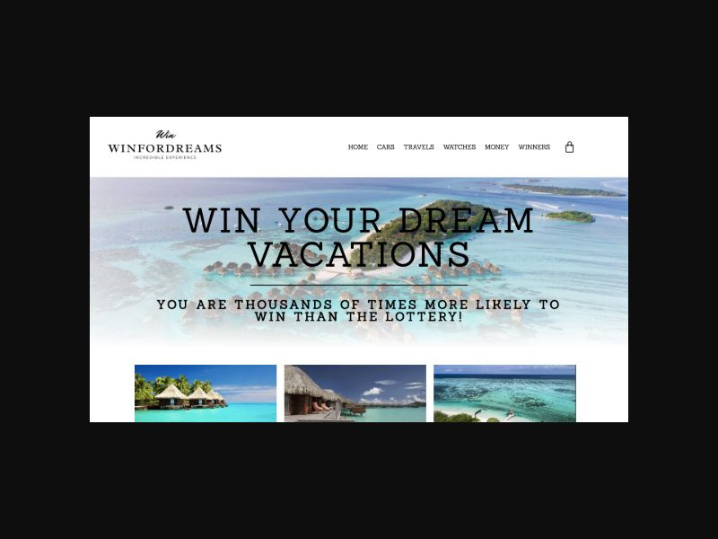 WinForDreams.com - Win Your Dream Vacation Llottery (US)