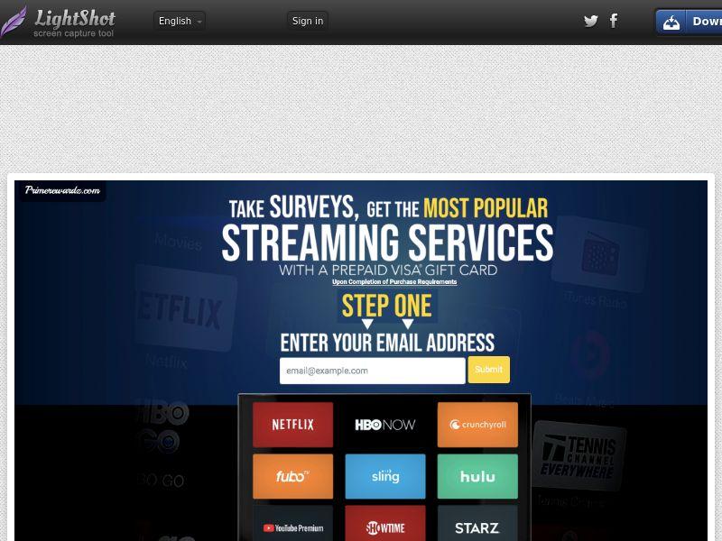 PrimeRewardz Streaming Services CPL