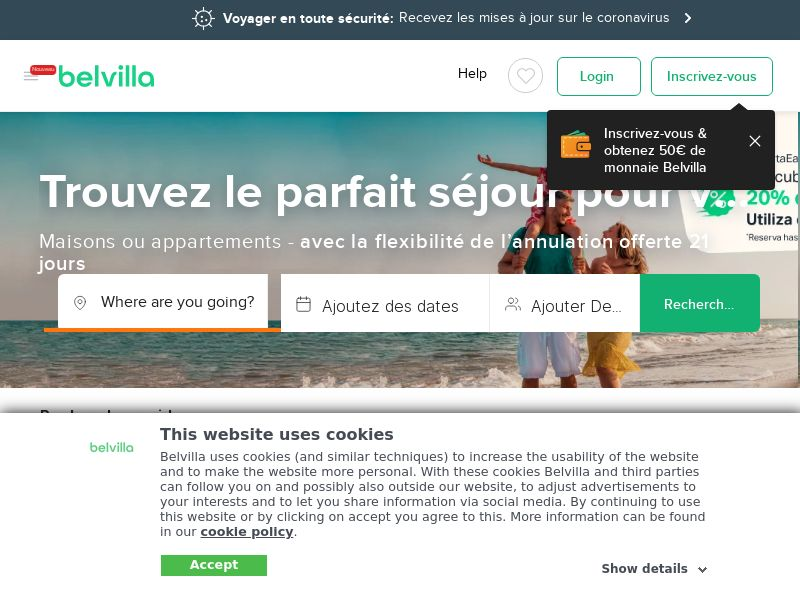 Belvilla - FR (FR), [CPS], Transport and Travel, Accommodation, Sell, holiday