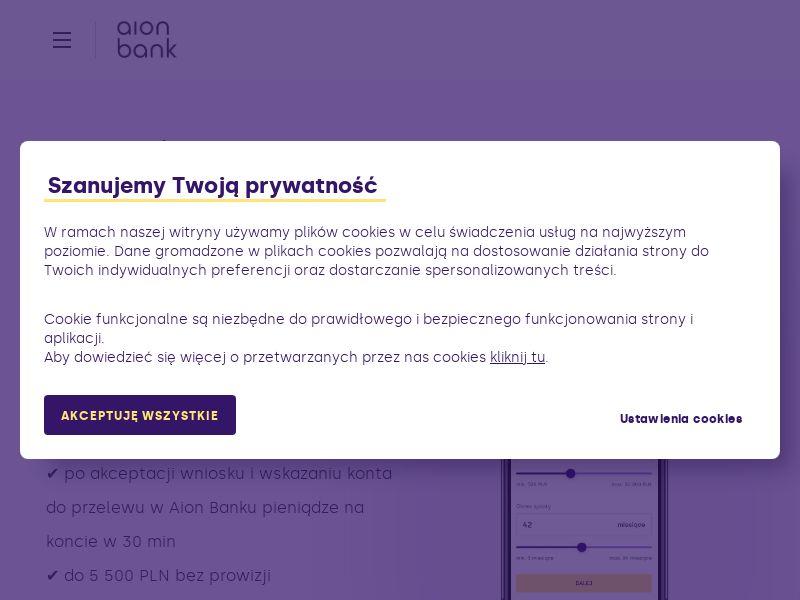 Aion Bank - kredyty gotówkowe - PL (PL), [CPS]