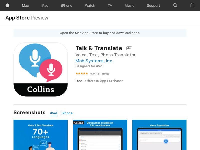 VIP - Talk & Translate iOS US, UK, VN, CA, AU, NZ, JP, TH (CPA)