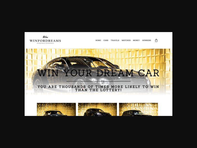 WinForDreams.com - Win a Dream Car Lottery (US) CPS